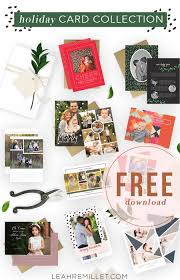 free holiday card bundle leah remillét