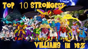 10 strongest villains dbz imo