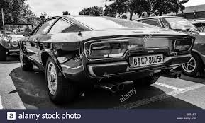 black maserati sports car sports car maserati khamsin car styling studio bertone rear view