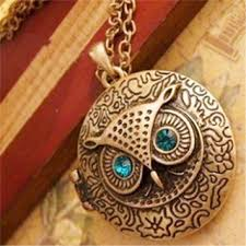 big owl necklace images Retro jewelry vintage ancient bronze big eyes owl necklace kitty jpg