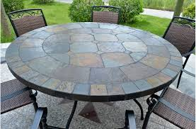 metal patio table and chairs 63 round slate outdoor patio dining table stone oceane modern