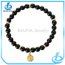 bracelet design beads images 2018 wholesale gold pendant black bead bracelet design buy bead jpg