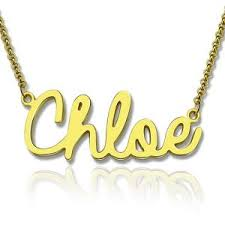 Personalized Gold Necklace Name Custom Nameplate Necklace Cheap