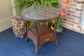 rattan side table outdoor tortuga outdoor lexington wicker side table wicker com