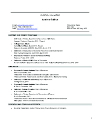 assistant professor position resume sample andrea gallice cover letter