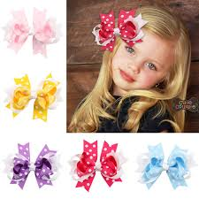 baby girl hair bows children multi color ribbon bow hairpins hair bow clip baby