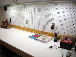 workbench with pegboard and light workbench melamine surface update