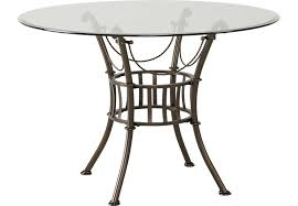 wood and metal round dining table hoyt 45 in metal round dining table dining tables metal