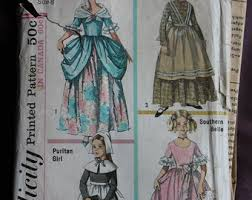 Halloween Costumes Sewing Patterns Puritan Costume Etsy
