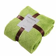 ou jeter un canapé vert polaire couverture sur le lit 100 polyester jeter