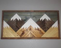 wood mountain wall reclaimed mountain wood wall decor reclaimed wood