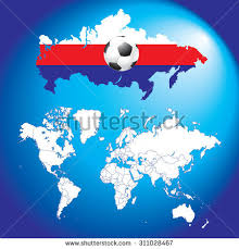russia football map soccer football map flags map russia stock illustration 310621283