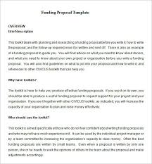 sample proposal writing format of a funding proposal funding