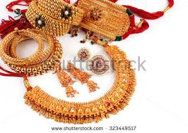all mix indian traditional gold jewellery stock photo 323449517