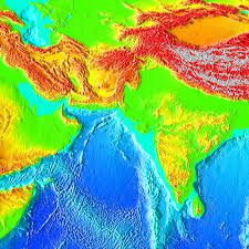 Ocean Depth Map Topography Of The Ocean Floor