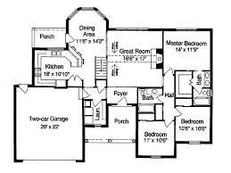 single floor plans with open floor plan single level open floor plan quotes house plans 55895