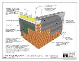01 070 2101 thin brick mockup prefab brick panels cmu u0026 steel