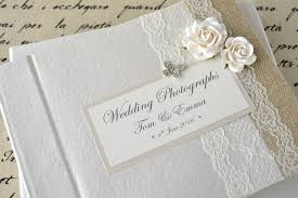 personalized wedding albums book personalised wedding photograph album vintage lace
