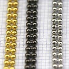 2 meters feet 2 meters 6 6 feet 1 5 x 3 mm two strands soldered gun metal tone
