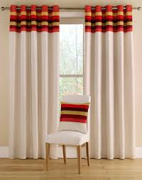 Coloured Curtains Tropical Terracotta Eyelet Curtains In Bright Summer Colour Ways