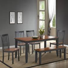 boraam bloomington dining table set shop boraam industries bloomington black cherry 6 piece dining set