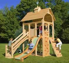 Kids Backyard Play Set by Like This Would Fit In Small Yard Yet Has Lots Of Climbing Areas