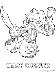 skylanders swap force water first edition wash buckler coloring