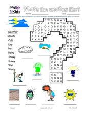 esl kids worksheet weather worksheets