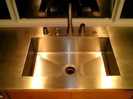 stainless steel countertop with built in sink 74 best stainless steel kitchen countertops images on pinterest