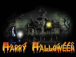 halloween movie background happy halloween and other scary words on a black background