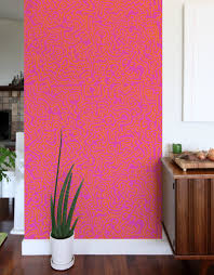 movement pink giant wall murals by keith haring giant wall movement pink giant wall murals keith haring wall sticker wall decal main image