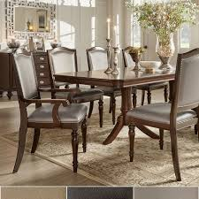 furniture dining room sets lasalle espresso pedestal extending table dining set by inspire q