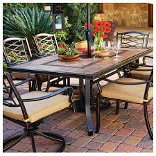 Courtyard Classic Granada Patio Collection TileTop Dining Table - Tile top kitchen table and chairs