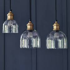 Glass Ceiling Pendant Light Flori Glass Pendant Brass By Rowen Wren Notonthehighstreet