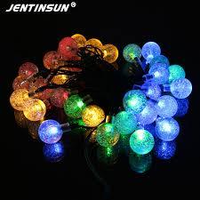 solar string lights 20 leds ball led light 2 modes flashing indoor