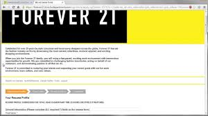 Forever 21 Resume Forever 21 Application Online Video Youtube