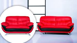 red and black living room set 2122 14 jonus sofa and loveseat set black red leather sofa sets