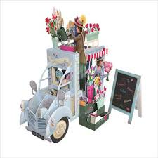 buy now 3d pop up card flower truck http www inpcreative