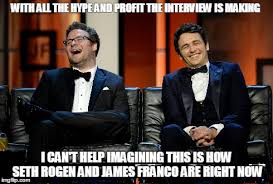 James Franco Meme - seth rogen and james franco right now imgflip