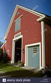 Red Barn Doors by Large Red Barn Exterior With Doors And Windows Showing Roof Line