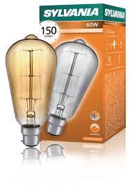 sylvania decorative light bulbs sylvania 60w decorative vinatage l bc cap lshoponline