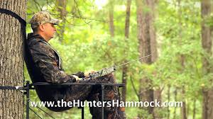 the hunter u0027s hammock tree stand seat youtube