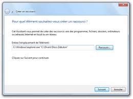 comment creer un raccourci sur mon bureau epingler un dossier à la barre des tâches de windows 7
