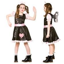 women girls broken rag raggy doll annabelle zombie halloween fancy