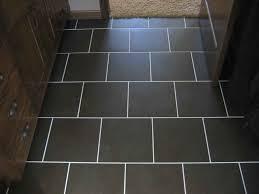 black ceramic tile