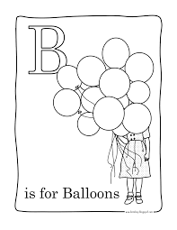 magnificent balloon letter coloring page with balloon coloring