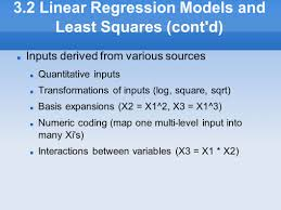 chapter outline 3 1 introduction ppt download 3 2 linear regression models and least squares cont d u200f