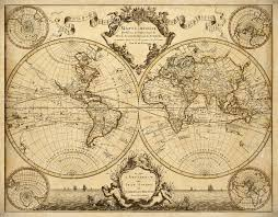 Home Decor World by L U0027isle U0027s 1720 Old World Map Historic Map Antique Style World Map