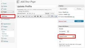 create custom update profile page for wordpress users 4 rapid