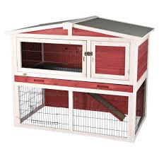 Rabbit Hutch Plastic Trixie Rabbit Hutch With Outdoor Run Extra Small Hayneedle